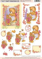 Craft Creations Bears in Doorway