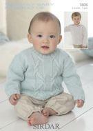 Sirdar baby sweater Pattern Number 1806