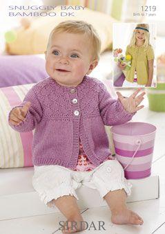 Sirdar Baby Cardigan Pattern Number 1219
