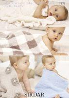 Sirdar Baby blanket Pattern Number 1771