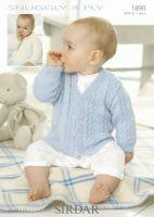 Sirdar Baby Cardigan Pattern Number 1890