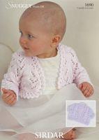 Sirdar Baby Bolero Pattern Number 1690
