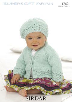 Sirdar Baby Jacket & Beret Pattern Number 1760
