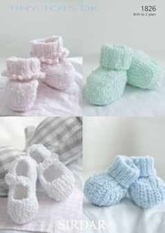 Sirdar Baby bootees pattern Number 1826