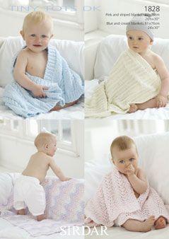 Sirdar Baby Blanket Pattern Number 1828