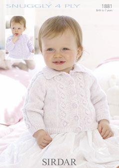 Sirdar Baby cardigan Pattern Number 1881