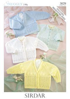 Sirdar Baby Cardigan Pattern Number 3029