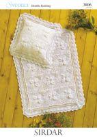 Sirdar Blanket & Pillowcase pattern Number 3806