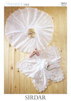 Sirdar Baby Shawl pattern Number 3851