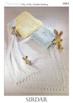 Sirdar Baby Shawl pattern Number 3983