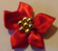 Ribbon Star Flowers Red