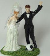 Bride & Groom Footballer