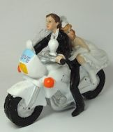 Bride & Groom On Motorbike