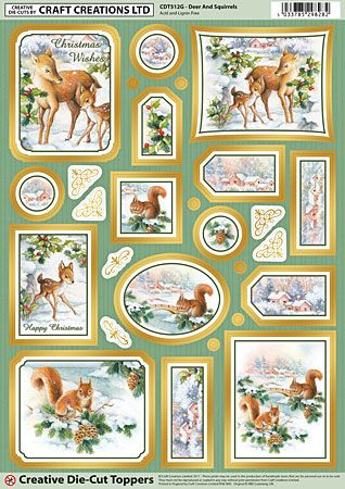 Cc Die Cut 3d Deer & Squirrels