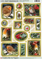 Cc Die Cut Robin Photos Gold