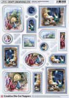 Cc Die Cut Nativity Scenes/ Silver