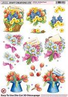 Die Cut 3d Birthday Flowers