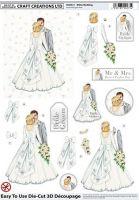 Die Cut 3d White Wedding