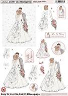 Die Cut Decoupage 3d Vintage Wedding
