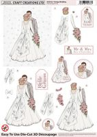 Die Cut Decoupage 3d Vintage Wedding