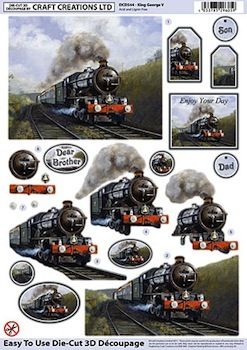 Die Cut Decoupage 3d Train King George V