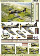 Die Cut Decoupage 3d Hawker Typhoon