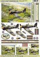 Die Cut Decoupage 3d Hawker Typhoon