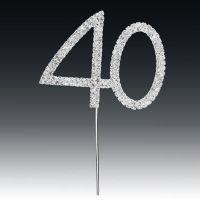 Diamante Number 40 On Stem