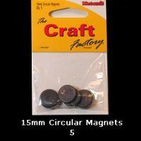 15mm Round Magnets x5