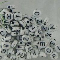 Alphabet Beads Black & White