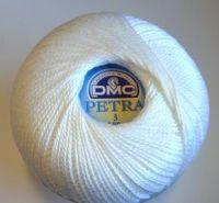 Petra no 3 Crochet Thread Bright White
