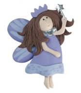 Clay dough Fairy with Wand Lilac
