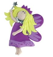 Clay dough Fairy with Wand Pink