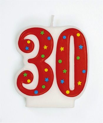 Number Candle 30
