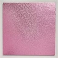 Pink 12 inch Square Cake Board
