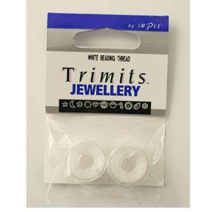 Trimits Bead Thread White