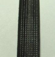 12mm Polyester Boning Black