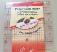 Patchwork Ruler 24 inch x 6.5 inch.
