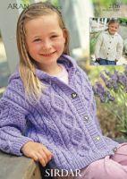 Sirdar Girls Jacket Pattern No 2126