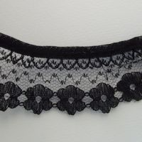 Black frilled Floral Lace