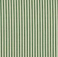 Makower Dark Green Ticking Stripe