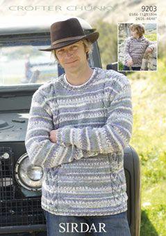 Sirdar Mens & Boys Sweater pattern No 9203