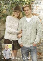 Sirdar mens Sweater pattern No 9219
