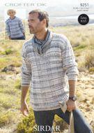 Sirdar Mens & Boys Sweater Pattern Number 9251