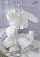 Sirdar baby matinee coat pattern Number 1579