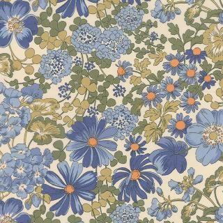 Moda Regent Street Lawns Blue Daisy
