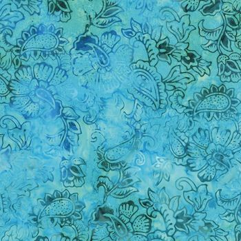 Moda Baja Breeze Batiks Turquoise