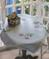 Anchor Sweetbriers Linen Tablecloth Embroidery Kit