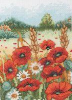 Anchor Poppy Field Cross Stitch Starter Kit: