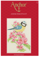 Anchor Bluetit and Blossom Cross Stitch Starter Kit: